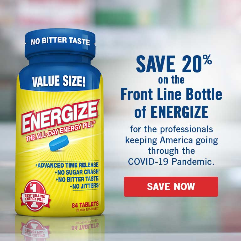 Save 20% on ENERGIZE for front line professionals