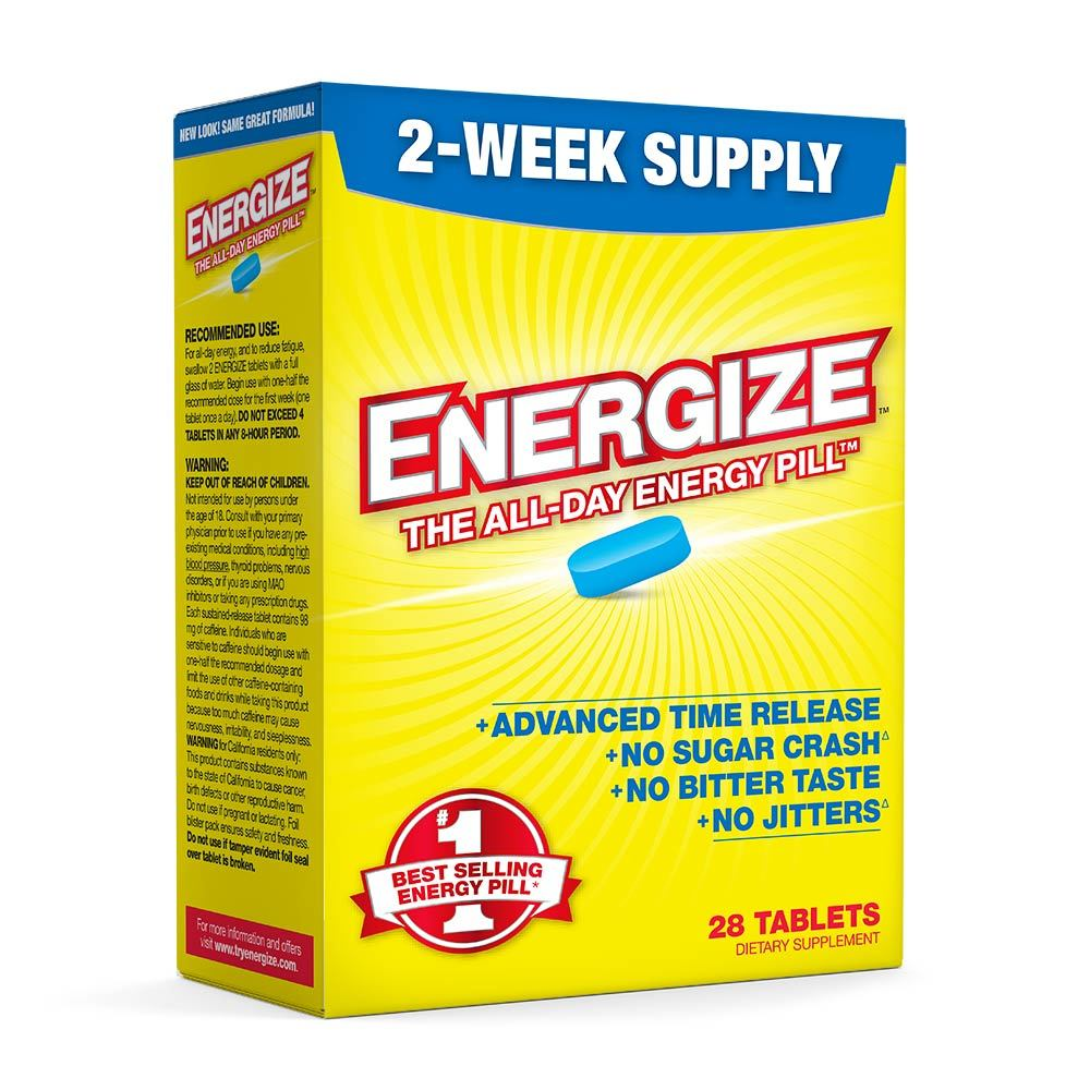 ENERGIZE America's #1 Selling All-Day Energy Pill - 28 Time Released Tablets