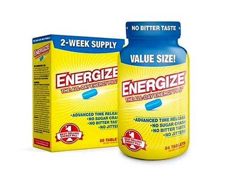 ENERGIZE America's #1 Selling All-Day Energy Pill - Time Released Tablets