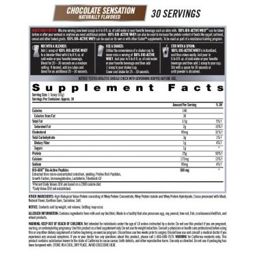 iSatori 100% BIO-ACTIVE WHEY Chocolate Supplement facts