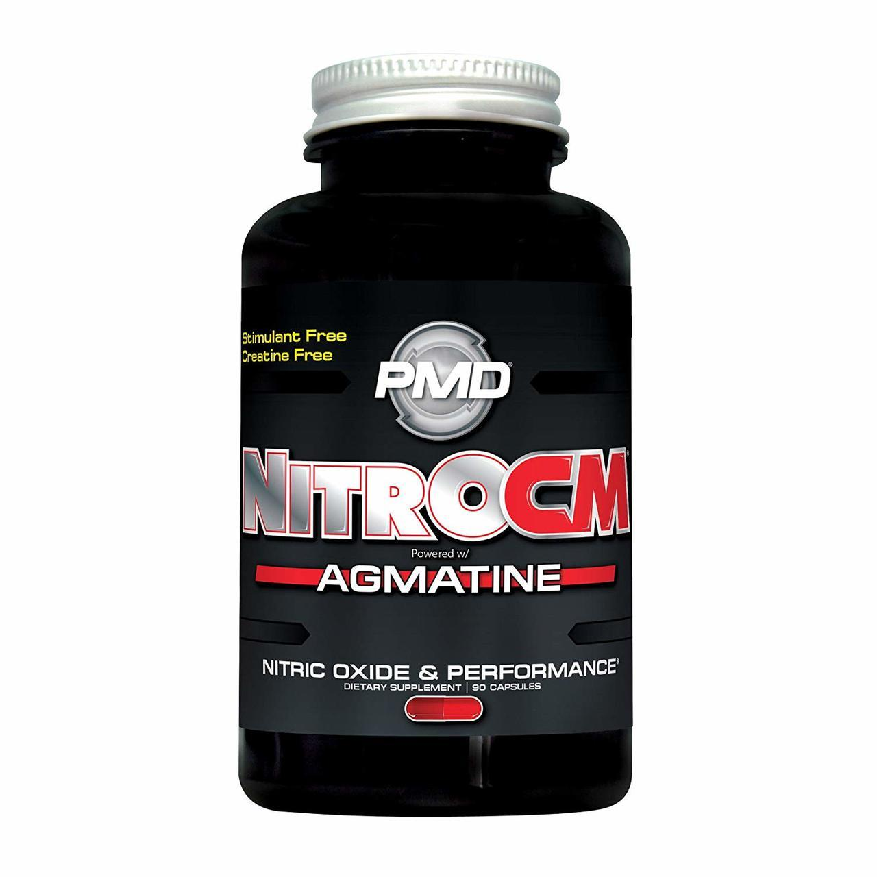 PMD Sports PLATINUM NITRO CM Elite Nitric Oxide Formula for Muscle Pumps and Performance - 90/180 Capsules